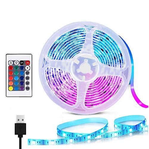 MMTX LED TV Stripes Lichtband, 1m Led Fernseher Beleuchtung Hintergrundbeleuchtung RGB USB Lichterkette Streifen mit Fernbedienung für HDTV, TV-Bildschirm, PC-Monitor, Schlafzimmer, Schrankdeko
