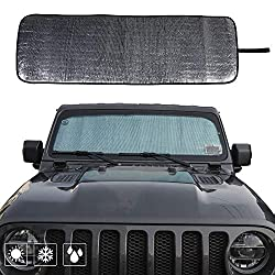 in budget affordable Windshield Sun Visor Auto Sun Visor Heat Shield JL Customizable 2018 Sun Visor Mat…