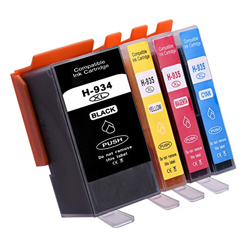 Aibecy Cartuchos de tinta compatibles de repuesto para HP 934935 XL 934XL 935XL Compatible con HP Officejet Pro 6230 6830 6835 Impresora HP Officejet 6220 6812 6815 6820, paquete de 4
