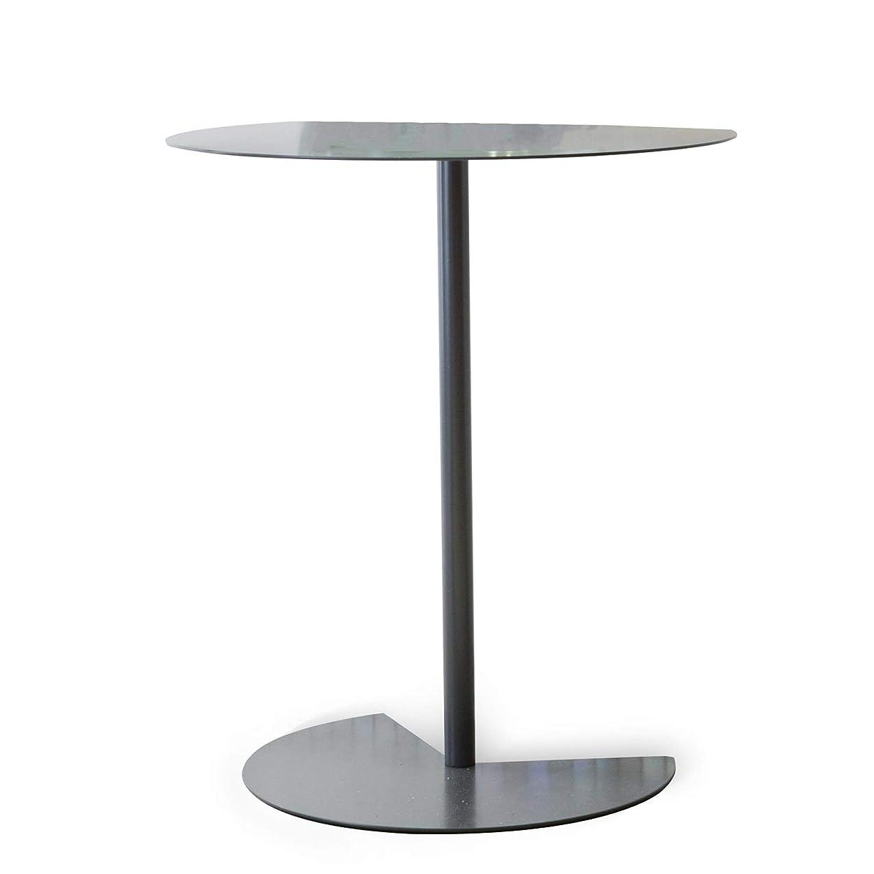 がっかりする推進、動かす関係ないベイタイ ソファテーブル、サイドテーブルリビングルーム、北欧サイドシンプルでモダンなクリエイティブ小さなコーヒーテーブルリビングルームスモール表バルコニー円卓錬鉄製のコーヒーテーブル交渉表 (Color : Black)