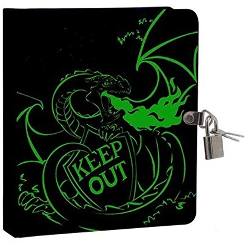 Keep Out Glow in the Dark Lock and Key Dragon Diary