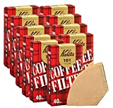 カリタ コーヒーフィルター 101濾紙 1~2人用 みさらし ブラウン 40枚入x10