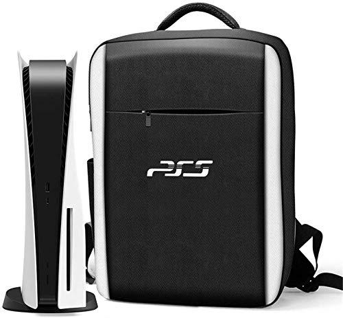 PS5 Tragetasche Laptoptasche, Konsole Tragetasche kompatibel Playstation 5 und Ps5 Digital Edition, wasserdichte tragbare Rucksack Aufbewahrungstasche, Reise Ps5 Tasche für Playstation Controller