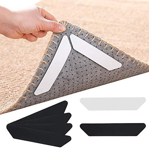 Matogle 32pcs Esquina de alfombra Alfombra antideslizante Etiqueta adhesiva Reutilizable Alfombra antideslizante...