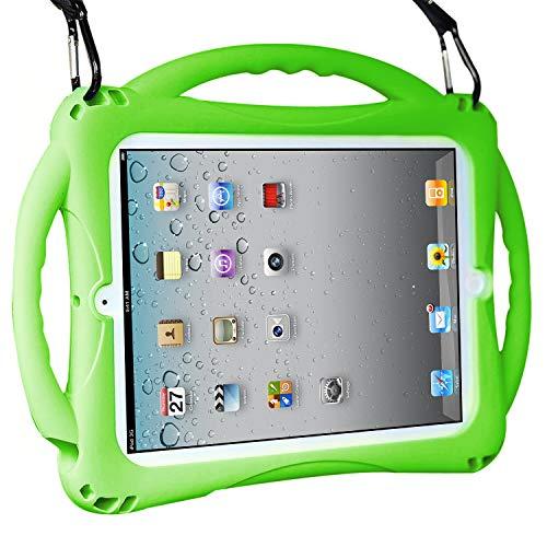 TopEsct iPad 2 Funda Niños Shock Proof Material Silicona Lightweight Kids Protector Cover Case con Manija para Apple iPad 2, iPad 3,iPad 4 (iPad 2/3/4, Verde)