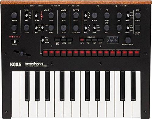 KORG Monologue 25-Key Compact Monophonic Analog Synthesizer - Black