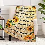 Cobija de oración de girasol, SSWM.Compasión Inspiración Fe regalo religioso cristiano, frazada de versículo de la Biblia, regalo para una fuerza positiva para la familia, amigo