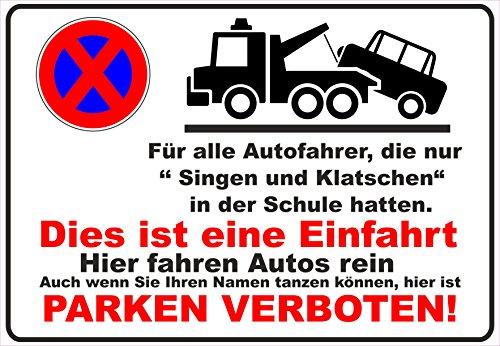 Parkverbot Schild Parken Verboten Halteverbot Partplatz Einfahrt Tanzen Singen