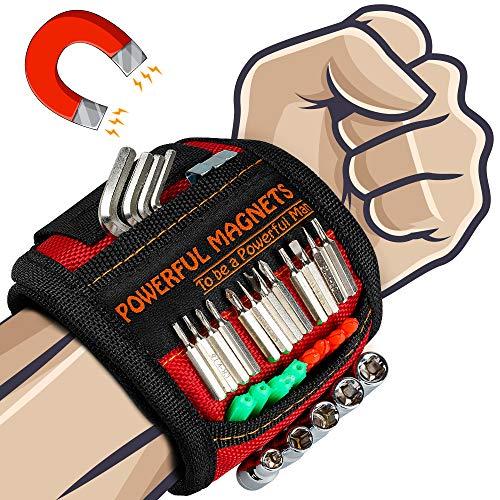 Geschenke Adventskalender Männer Magnetisches Armband - Bestes Werkzeug Geschenke für Männer, Magnetarmband Handwerker mit 15 Leistungsstarken Magneten, Gadgets für Männer Weihnachtsgeschenke