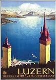 muzi928 Wandkunst Plakat Lausanne Luzern Schweiz Reise