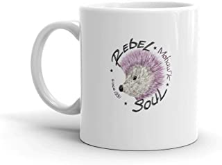 Dozili Funny Coffee Mug - Slogan With A Hedgehog Mohawk Cool Sweaters Ceramic Coffee Mug Cup, 11 Oz, White