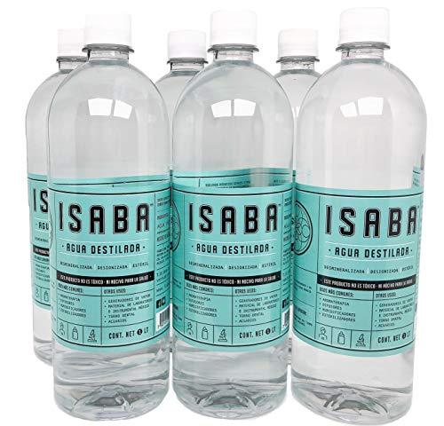 Agua Destilada 1 Litro, 6-Pack