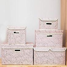 Mdsfe Boîte de Rangement Pliable en Tissu, boîte de Rangement pour vêtements, Cube,..