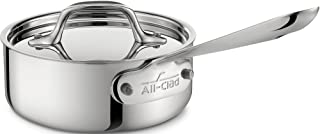 All-Clad 4201 Stainless Steel Tri-Ply Bonded Dishwasher Safe Sauce Pan with Lid / Cookware, 1-Quart, Silver - 8701004488