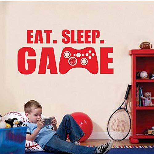 Decal spel-trekker, vinyl, zelfklevend, videocontroller, spel-controller, muur, rug, jongens, slaapkamer, decoratie