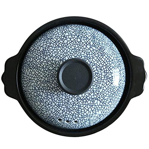Cazuela de Arcilla Olla de Terracota para estofado - Resistencia a Altas temperaturas, Ahorro de energía Durable Fácil de Limpiar-D_Capacity_2.5L