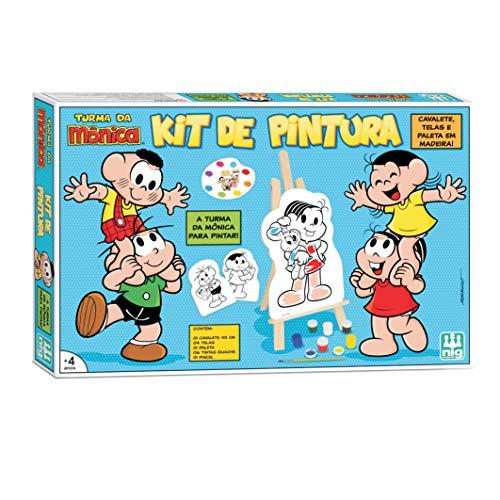 Kit Quadros de Pintura Infantil com Cavalete Turma Da Monica Nig