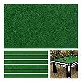 Boshen Billiard Cloth Pool Table Felt with 6 Cloth Strips for 7 Foot Table Fast Pre-Cut Rails, 3 Fabrics for Choice