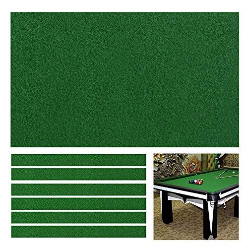 Boshen Billard-Tisch-Filz mit 6 Stoffstreifen, für 2,2 / 2,3 / 2,7 m lange Tische, schnell vorgeschnittene Schienen, 3 Stoffe zur Auswahl, Einseitig verdickt., for 9' pool table