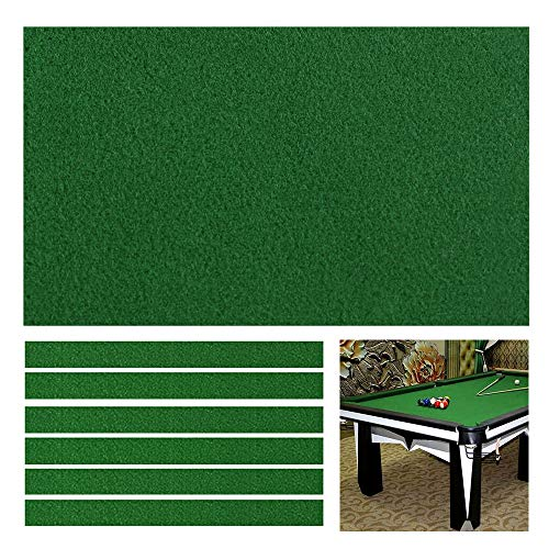 Boshen Billiard Cloth Pool Table Felt with 6 Cloth Strips for 8 Foot Table Fast Pre-Cut Rails, 3 Fabrics for Choice