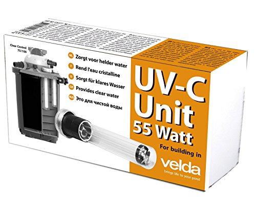 velda 126577 Unité C UV de Rechange pour dissolvant électronique Contre Les algues Vertes dans Le Bassin, unité UV-C 55 W