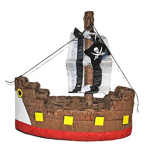 Das Kostümland Pinata - Geburtstags Dekoration - Piraten Schiff - Tolles Geschenk für Kindergeburtstag, Hochzeit oder Mottoparty