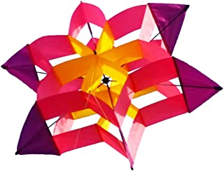 Besra 42inch Huge Lotus Flower Kite Colorful Signle Line Nylon 3D Box Kite with Flying Tools