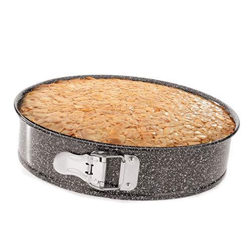 4smile Springform 26cm rund - Perfekte Kuchen und Torten von Hobbybäckern und Profis - Backform Kuchenform antihaftbeschichtet
