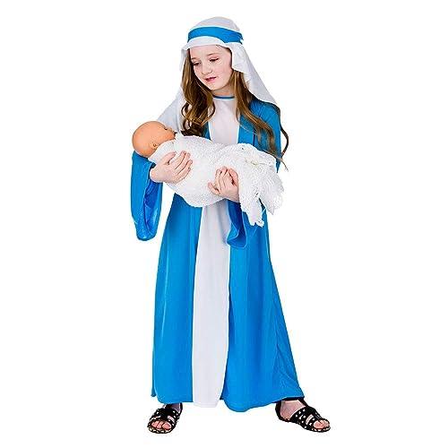 DELUXE VIRGIN MARY CHILD GIRLS FANCY DRESS CHRISTMAS COSTUME