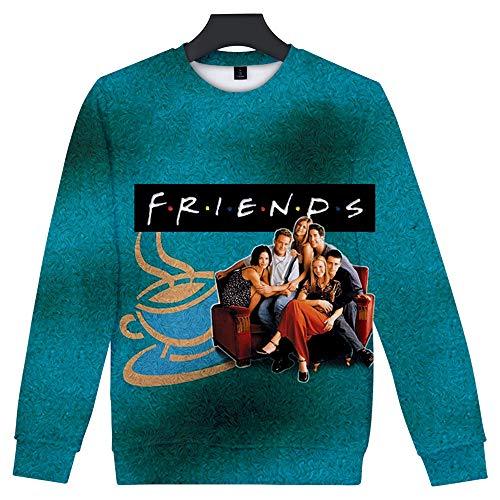 FRIENDS Trui Sweatshirt Volleybalfans Casual Jassen Lange Mouw Zweet Modetops Voor Pullover Heren Dames