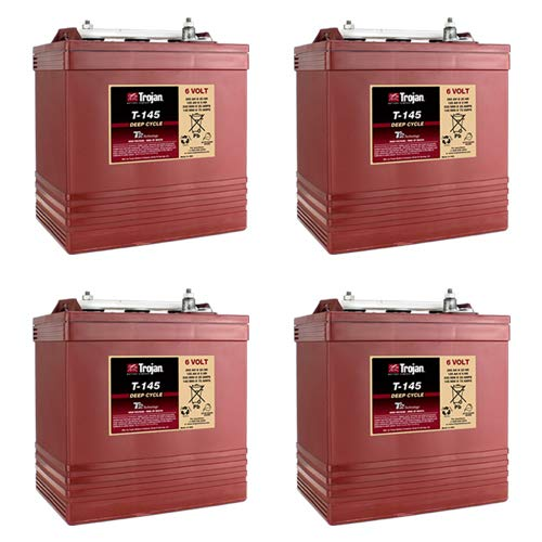 Trojan T145 6 Volt, 260 AH Deep Cycle Battery - 4 Pack