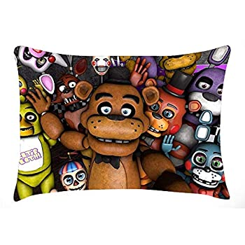 heizifang Five Nights at Freddy s Pillowcase Zippered Cover 20x30 Inches Both Sides Design Printed Pillows Throw Cover Cushion Case Covers  Color04 20x30 Inches