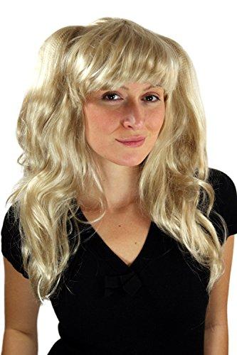 WIG ME UP Perruque blonde, long, avec tresse, style japonnais, idéal pour Cosplay