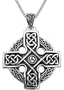 Jewelry Trends Celtic Trinity Knot Knights Templar Cross Sterling Silver Pendant Necklace 18
