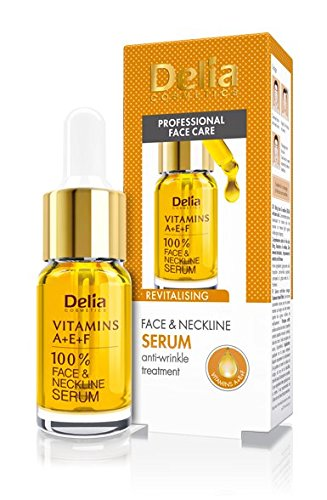 Delia 100% Anti Wrinkle Serum for Face Neck and Decollete Vitamins A+e+f
