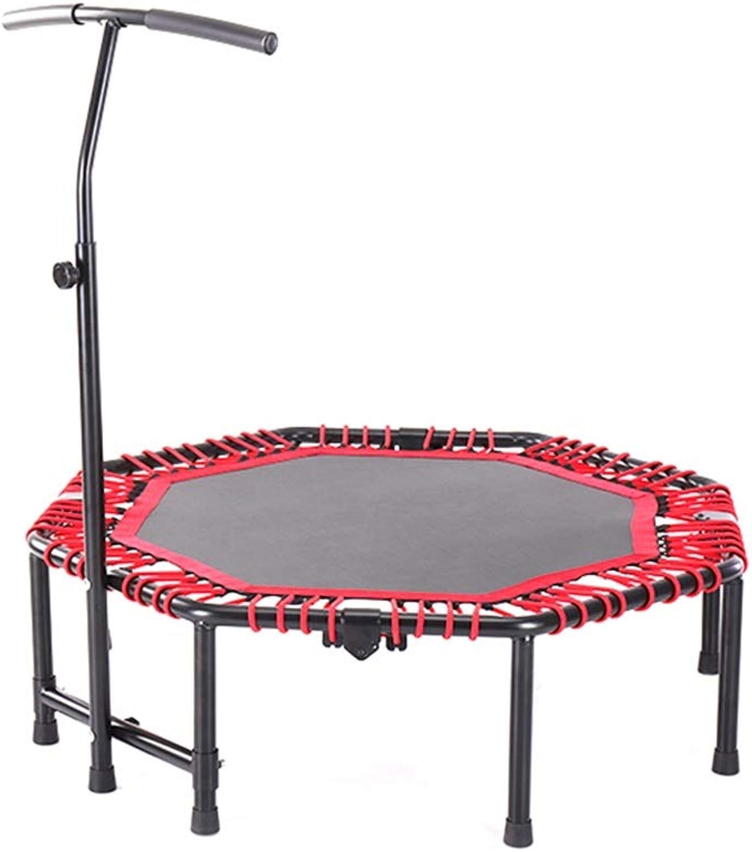 GaoYunQinFitness trampoline DUXX Fitness-Trampolin, 48-Zoll-Trampolin Für Erwachsene, Fitnessstudio Zur Gewichtsrotuktion, Für Den Innengarten Geeignet (Belastung  250 Kg, Rot) Indoor Fitness