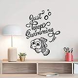Halten Sie Einfach Schwimmen Wandtattoo Findet Nemo Dory