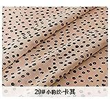 Cula - Tessuto chiffon floreale in chiffon vedere sebbene stampa tessuto per abbigliamento e fai da te vintage chiffon, 29, 50X150cm(0.5 meters)