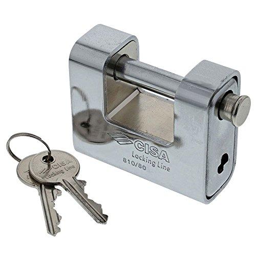 CISA 25769 Lucchetto incamiciato Locking Line, Acciaio, 80 mm