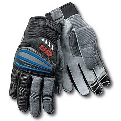 SDFS Guantes de motocross gris GS Pro guantes de carreras de motocicleta para BMW, azul, S