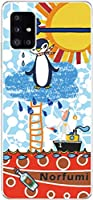 Galaxy A51 SC-54A SCG07 スマホケース ギャラクシーA51 カバー らふら 名入れ ペンギン天国