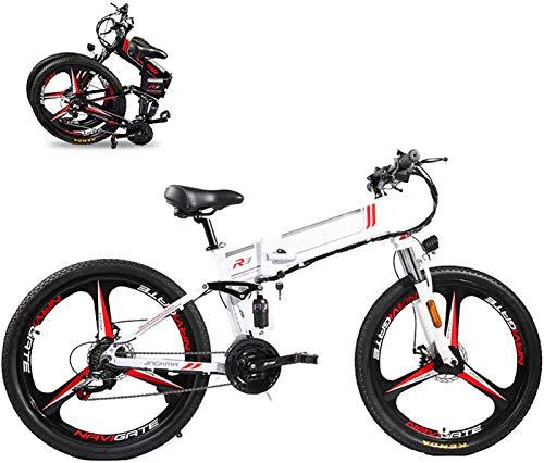 Bicicletta Elettrica, 350W Pieghevole Bike Electric Bike 26  Bike elettrica Mountain E-Bike 21 Velocità 48V 8A   10A   12.8a Batteria al litio rimovibile Biciclette elettriche per adulti 3 Modalità Ve