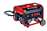 Il generatore di corrente commuta una potenza continua di 2600 W, fino a 5 minuti una potenza di 2800 W e fino a 2 minuti una potenza di 3100 W Il grande serbatoio può contenere fino a 15 litri di benzina per garantire un esercizio durevole; la durat...