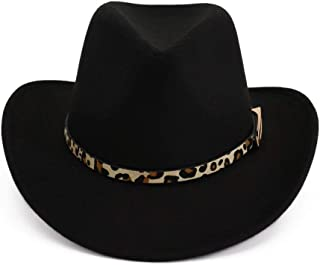 SHENTIANWEI New Fashion Woolen Felt Hat Panama Jazz Fedoras Hats Western Cowboy Hat Party And Stage Top Hat For Women Men