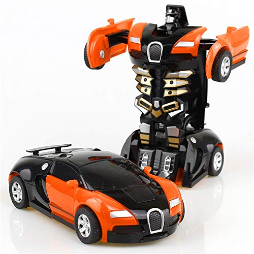 Lz Auto Roboter, Roboter Auto Verwandlung Kinder Spielzeug Kleinkind Fahrzeug Cool Spielzeug Für Jungen Weihnachtsgeschenk 1/ Orange