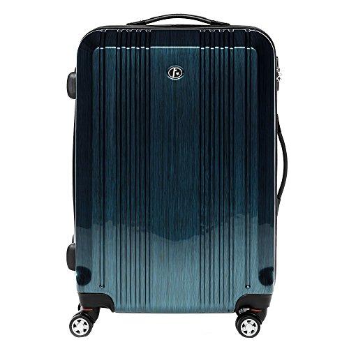 FERGÉ Large Hard-case Luggage Suitcase Hard Shell Trolley Cannes 24' Luggage 4 Wheels Blue