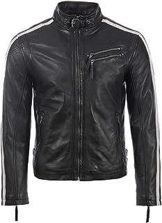 Aviatrix Men's Real Leather Biker Racing Fashion Jacket (KPTW)