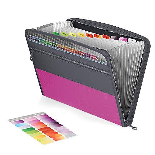Carpeta Expandible,Carpeta De Colores Expandible,Carpeta Compartimentos,Carpeta De Acordeón,Bolsillo Para Documentos,Organizador De Documentos,Carpeta De Documentos