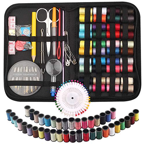 STURME Sewing KIT 40 Colors Threads Hand DIY Sewing Kits for Travel Home Emergency and Easy to Use for Adults Beginners-136PCS