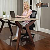 Gorilla Grip Premium Polycarbonate Chair Mat for Hard Floor Surfaces, 47x29, Heavy Duty, Easy Glide Transparent Mats for Desk Chairs, Good for Desk, Office and Home, Protects Floors, with Lip, Clear